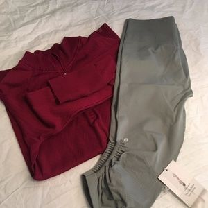 Lululemeon Awakening Crop Leggings Light Green NWT